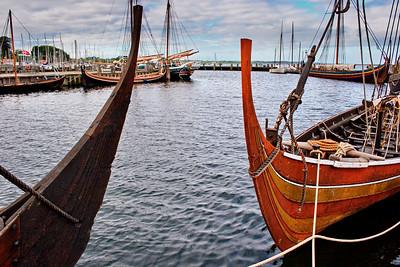 Replicas of Viking longships