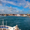 Ferry approaching the harbor in Helsingør