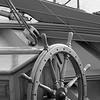Wheel of a brig - monochrome