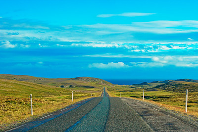 Road in arctic Norway near Vardø