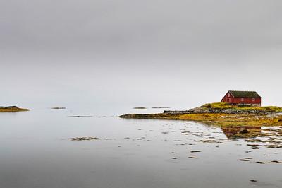 Boathouse on a tiny island