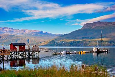 Jetty in a Norwegian fjord