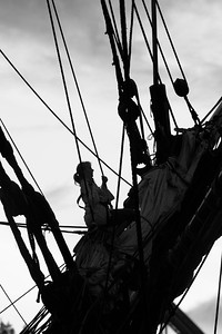 Crew on a tall ship