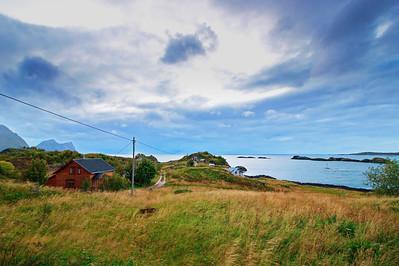 Farm houses on island Senja