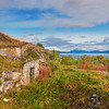 WW2 Battlement at the coast of Ofotfjorden in northern Norway