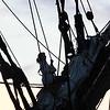 Crew on a tall ship