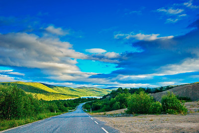 Road E6 through the Finnmark in arctic Norway