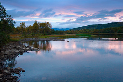 Blue hour at a Norwegian river