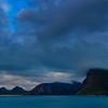 Stormy sky over island Senja