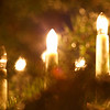 Candles and Christmas tree