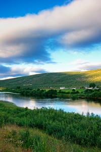 River Tanaelva in summer