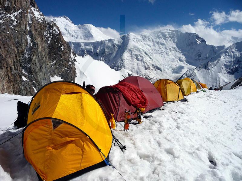 Camp I, Southern Crest Route, Pik Korzhenevskaya, Pamir, Tajikistan