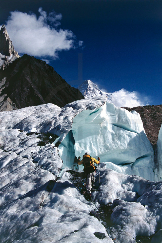 Leaving Concordia for Broad Peak Base Camp, Baltistan, Pakistan