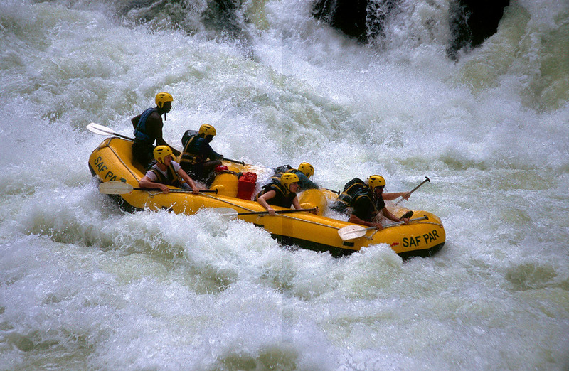 Rafting the mighty Zambezi, Zambezi River, Zambia
