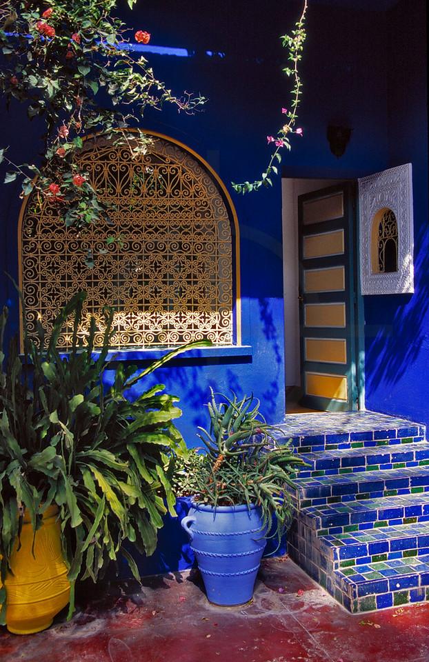 Patio and villa of Jardin Majorelle, Marrakesh, Morocco
