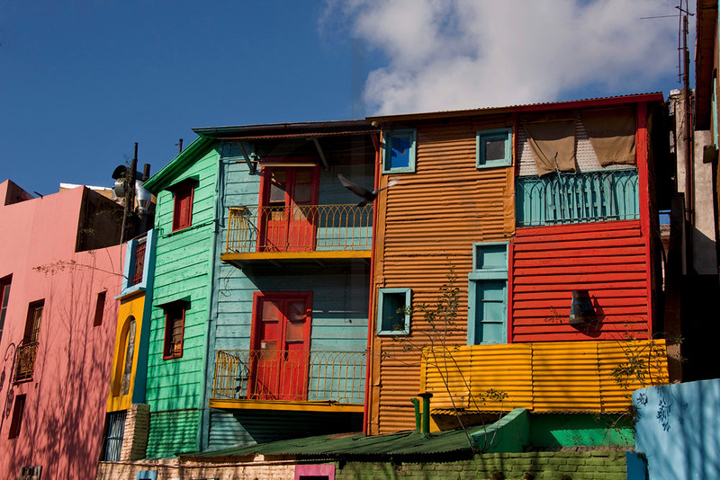 Colorful houses in La Boca, Buenos Aires, Argentina