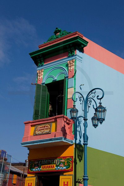 Colorful house in La Boca, Buenos Aires, Argentina