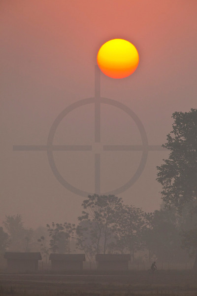 Sunrise in rural Nepal