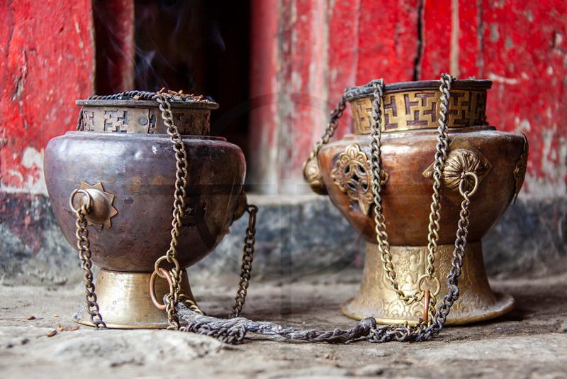 Censers, Tenboche Monastery, Khumbu, Nepal