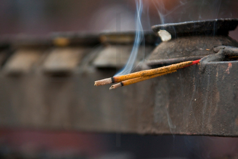 Burning incense, Hindu temple, Pashupatinath, Kathmandu Valley, Nepal