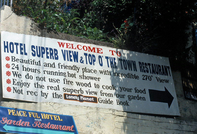 Adverstising your hotel, Bahundanda, Annapurna Circuit, Annapurna Massif, Nepal