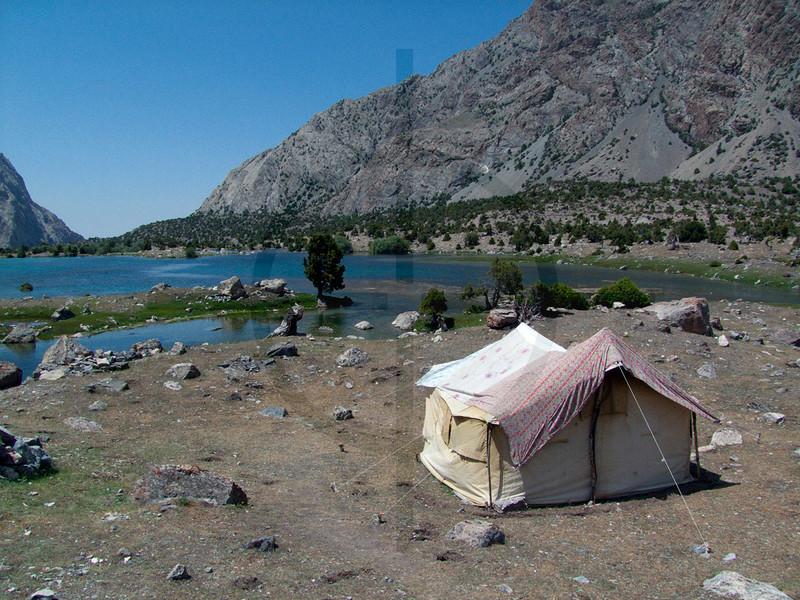 Shepherd's tent, Kul-i Kalon Lakes, Fan Mountains, Tajikistan