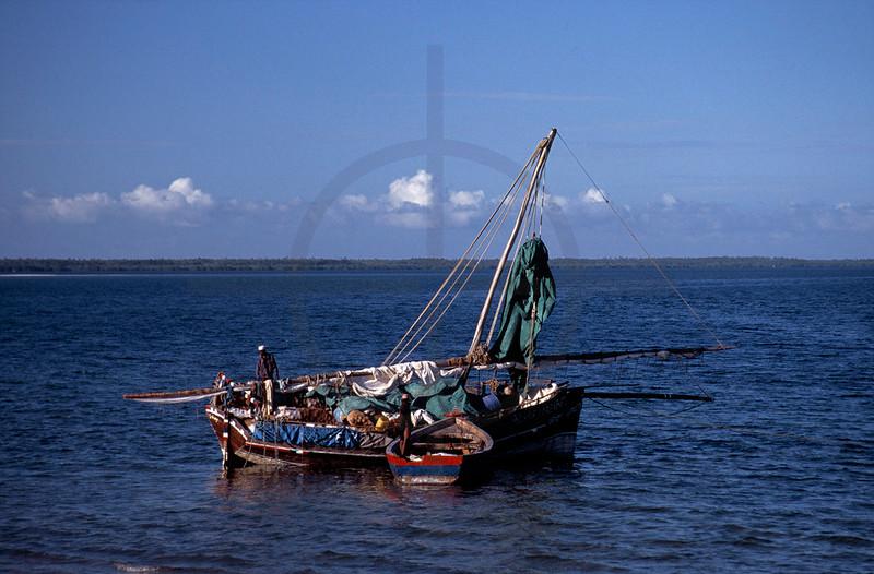 Dhow near Mafia Island, Tanzania