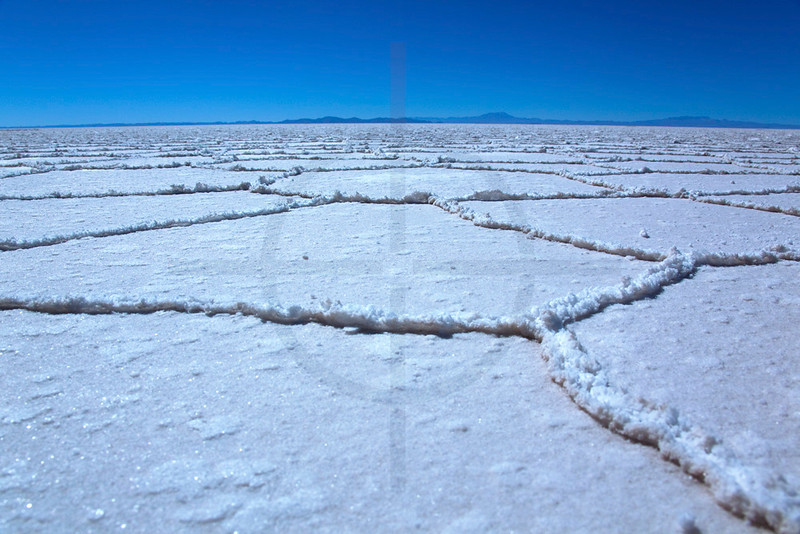 Salt crystals and formations, Salar de Uyuni, Bolivia