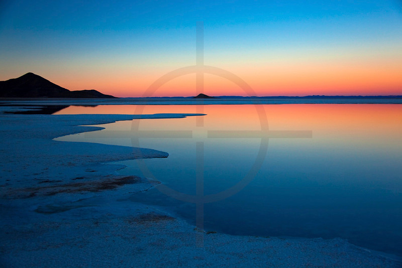 Last light of the day, Salar de Uyuni, Bolivia