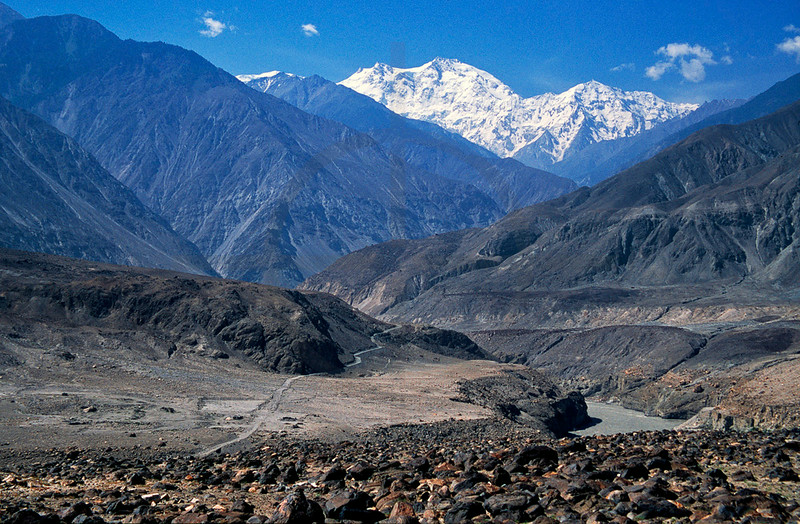 The Karakoram Highway, Indus River and Nanga Parbat, Northern Pakistan