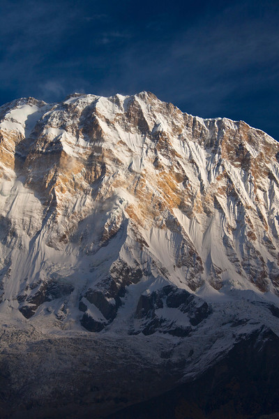 South face of Annapurna I as seen from Annapurna Base Camp, Annapurna Himal, Nepal