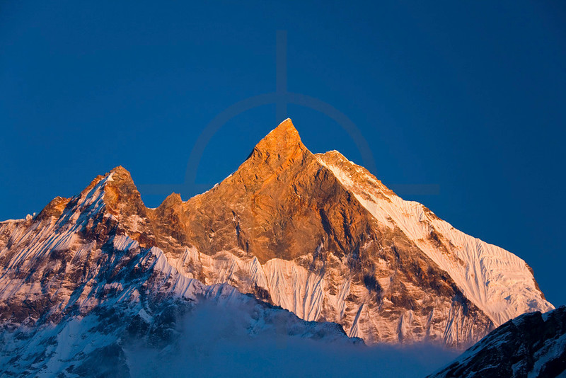Machapuchare in late afternoon from Machapuchare Base Camp, Annapurna Sanctuary, Nepal