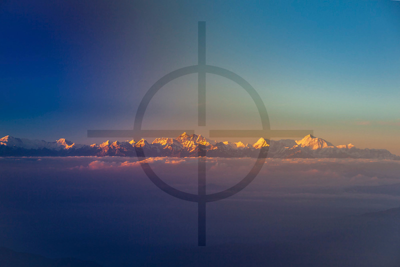 Himalaya, seen from a flight from Biratnagar to Kathmandu, Nepal