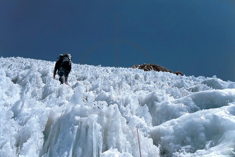 Climbing Huayna Potosí, Bolivia