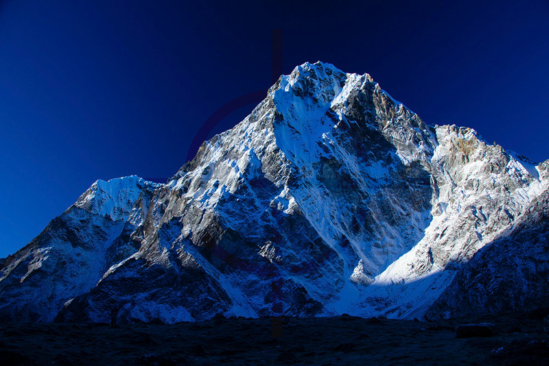 Cholatse in early morning light as seen from the hamlet of Dzonglha, Solukhumbu District, Nepal
