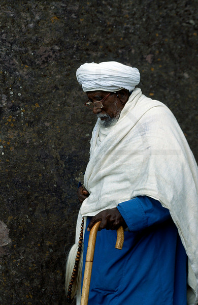 Christian priest of the Ethiopian Othodox Tewahedo Church, Lalibela, Northern Ethiopia