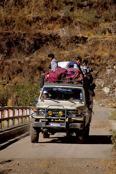 On the way to the city, in between Sorata and La Paz, Bolivia