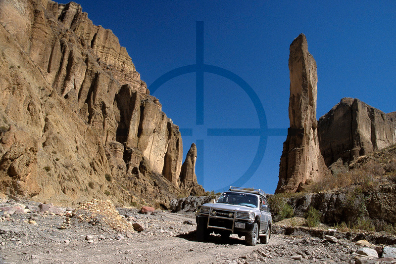 Palca Canyon by 4x4, vicinity of La Paz, road to Illimani base camp,  Bolivia