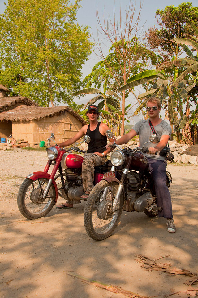 Life is a motorcycle, Sauraha, Nepal