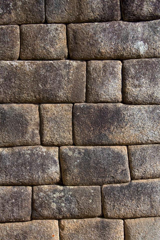 Inca wall, Machu Picchu, Peru