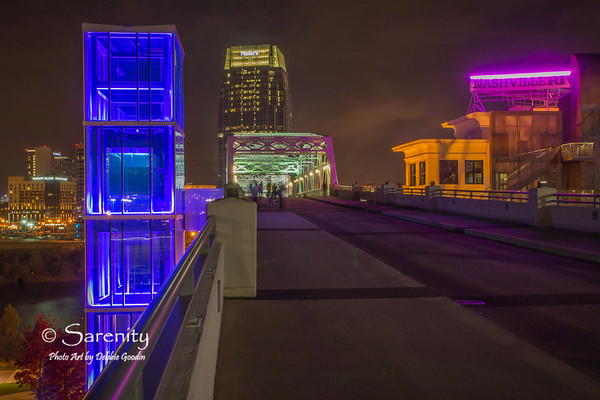John Seigenthaler Pedestrian Bridge, Downtown Nashville, TN