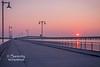 Drive up Pier, Hwy 90 Bridge at Sunset