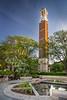 Purdue Bell Tower, Sunken Pond and Garden