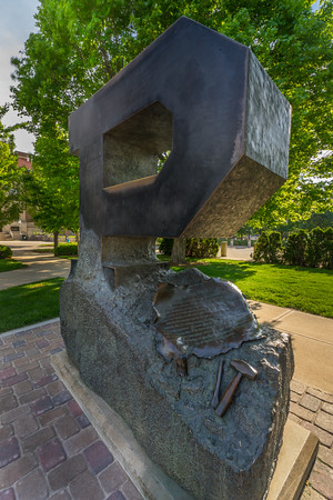 """The Unfinished """"P"""" Sculpture by Sculptors Rick and Rita Hadley"""