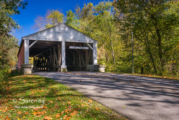 Ramp Creek Covered Bridge - Fall