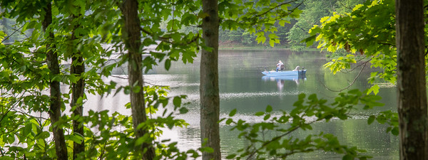 An early morning  fisherman on Lake Lanape in Shakamak State Park!