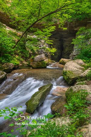 Water flow through Donaldson Cave.