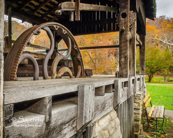 Another view of this amazing iron gear at the Saw Mill!