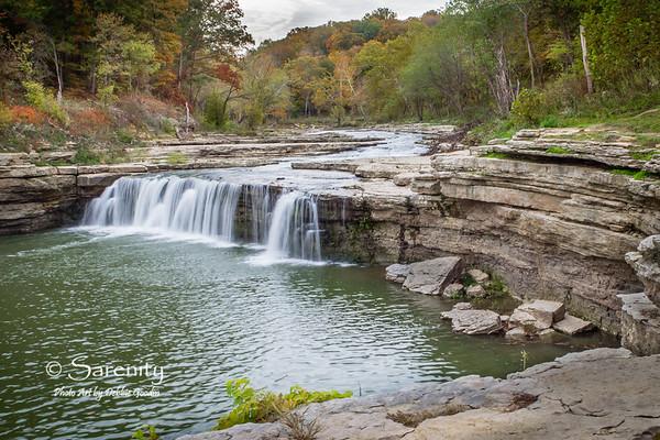 Fall colors of Cataract Falls!