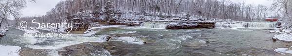 Winter at Cataract Falls!